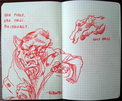 red sharpie sketchbook