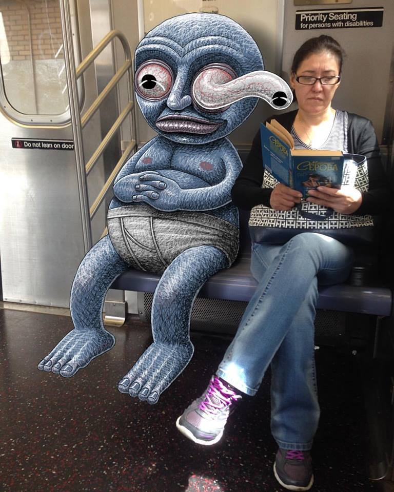 Drawing of NYC Subway Monsters