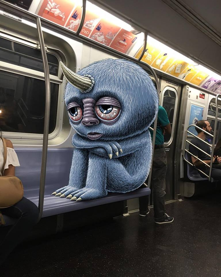 Monster in New York City Subway