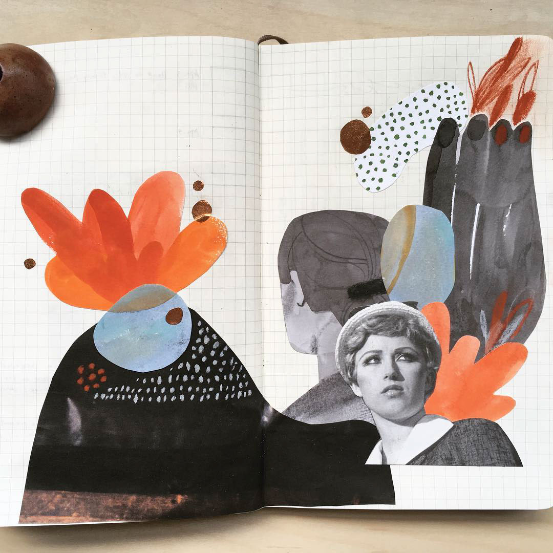 collage and illustration