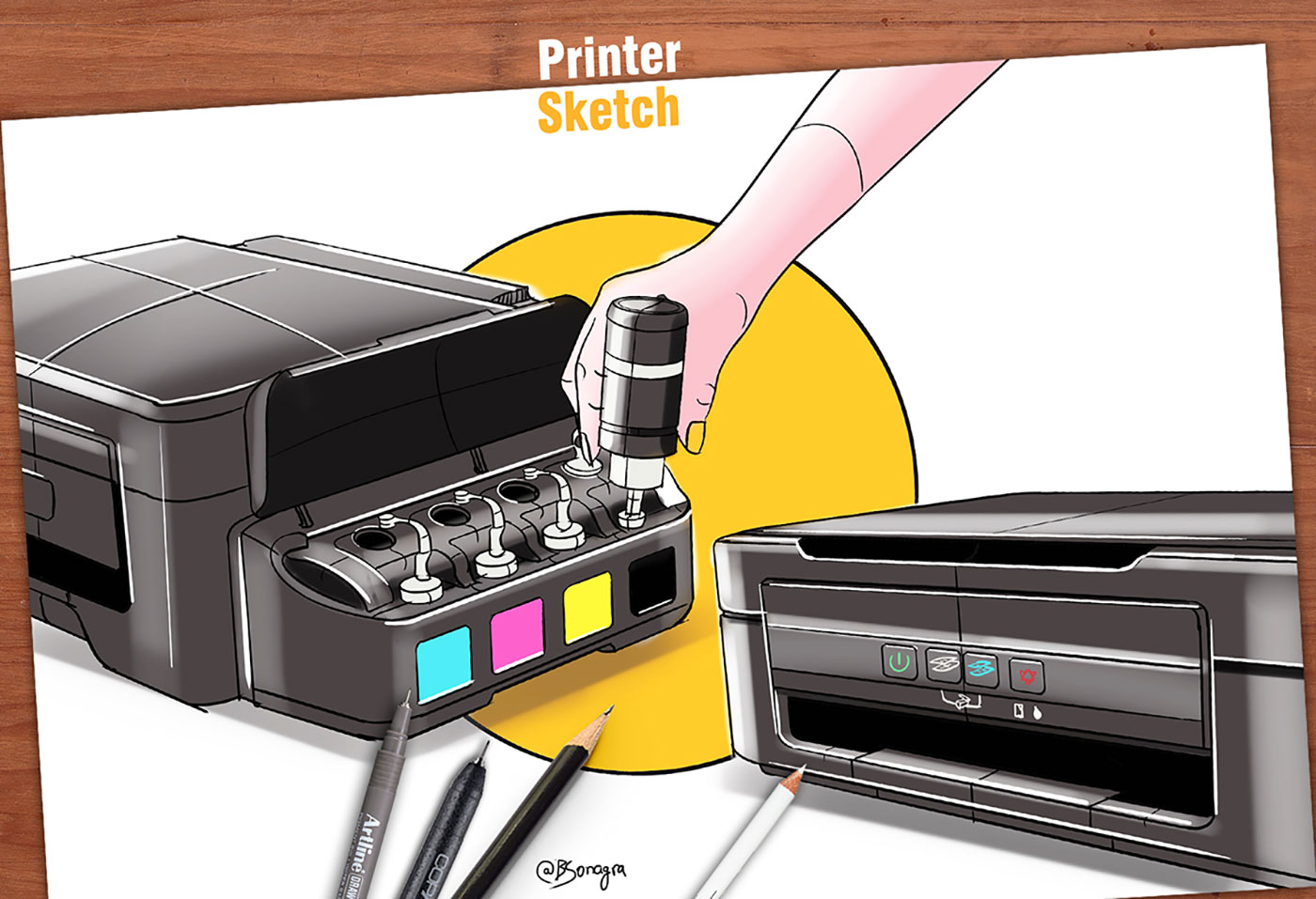 Drawing of a Digital Color Printer