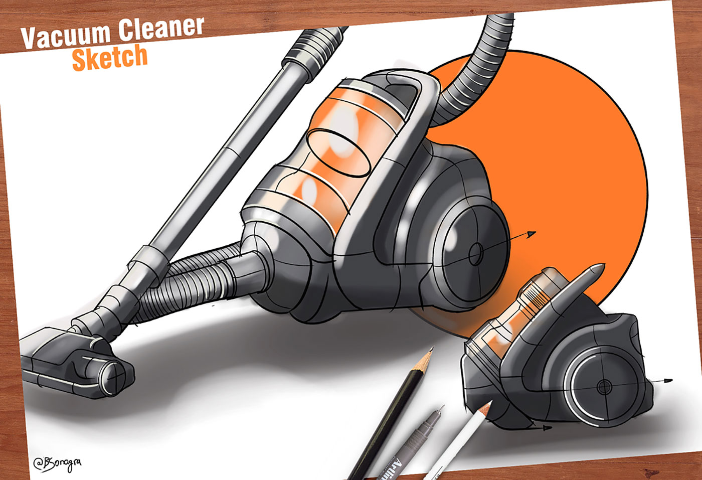 Drawing of a Vacuum Cleaner