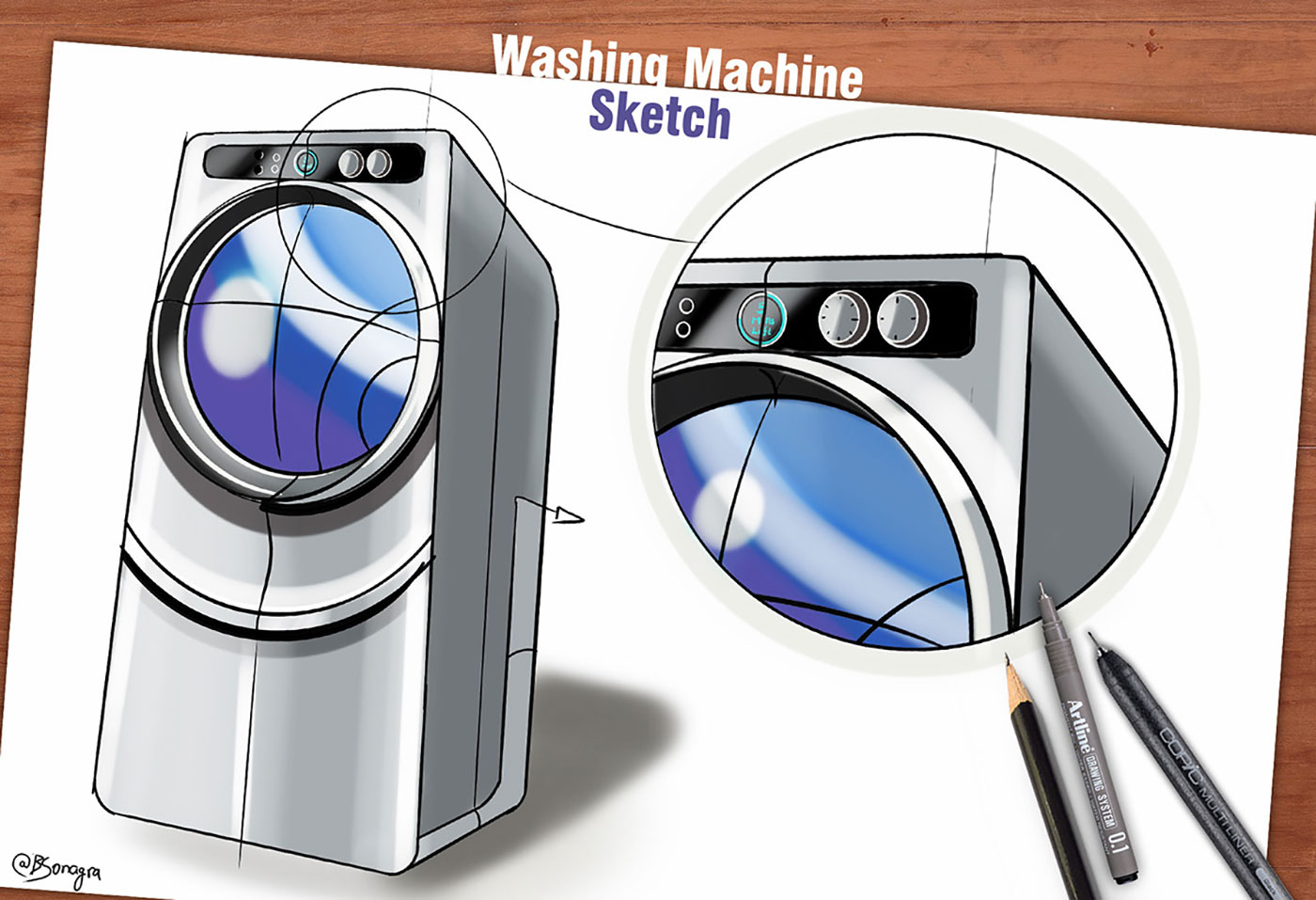 Drawing of a Washing Machine