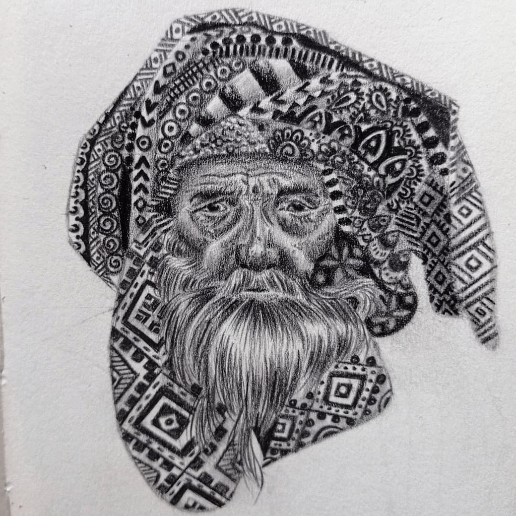 Drawing Of An Old Man