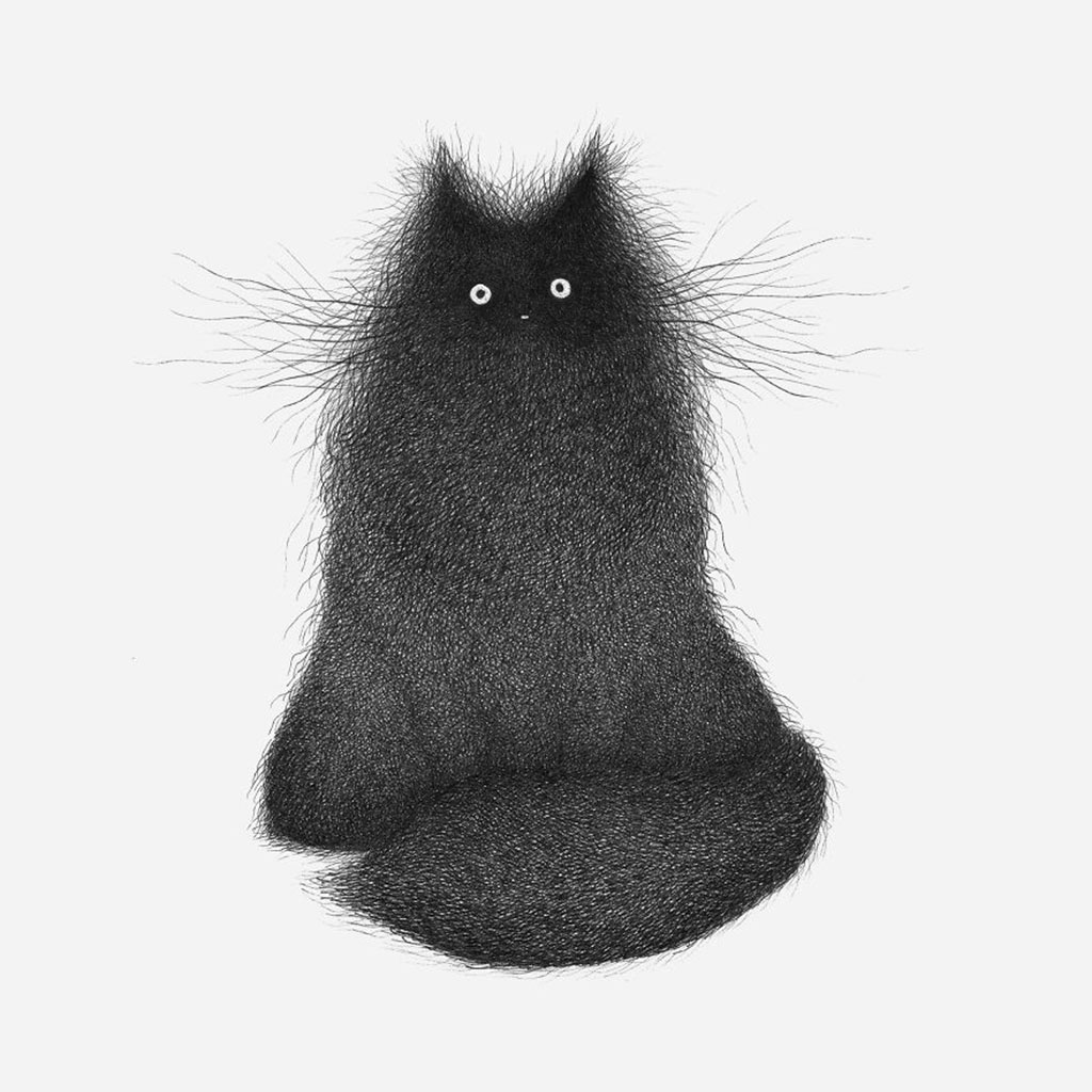 Drawing of Cat named Floofle