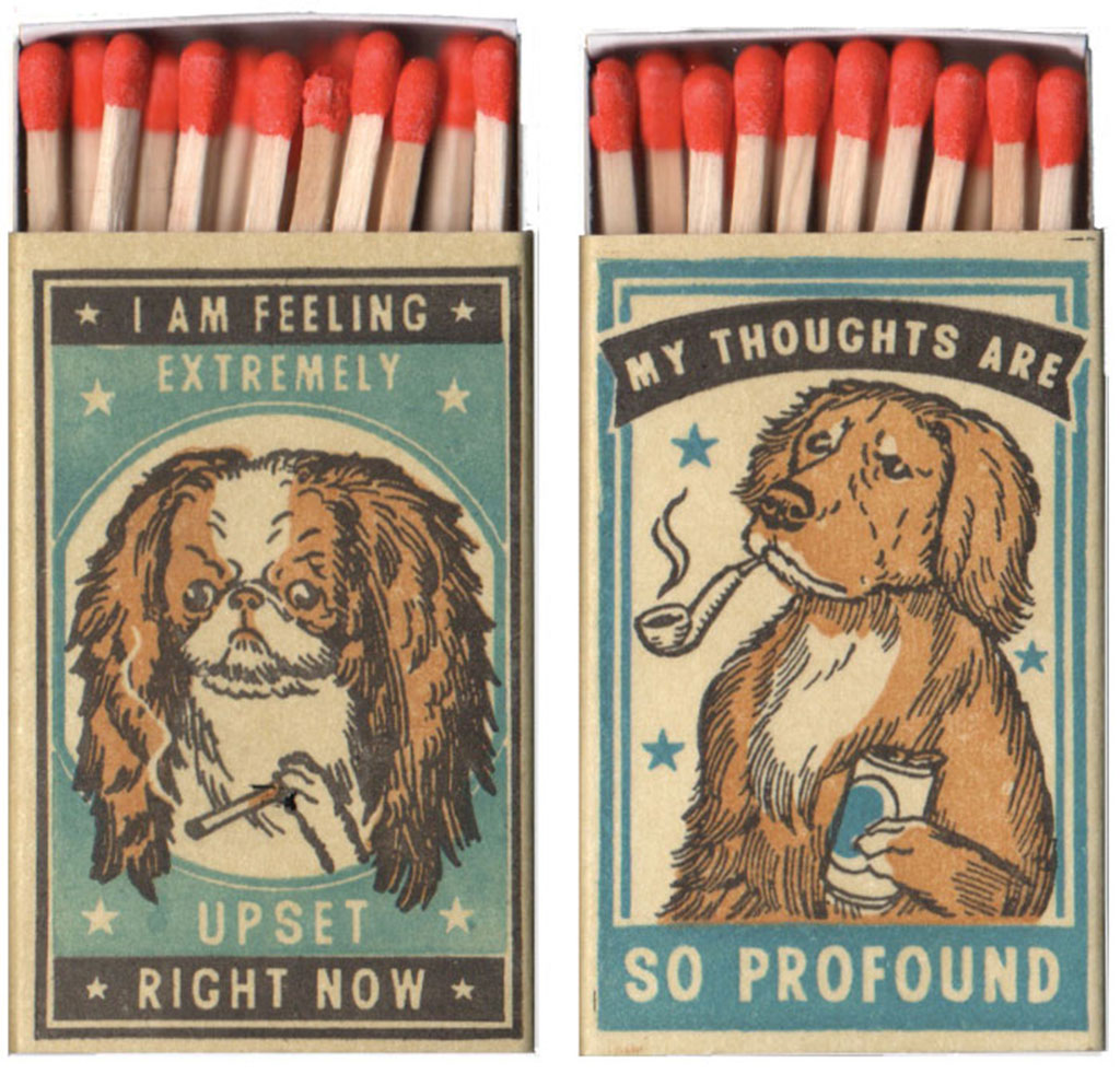 Close-up View of Two Matchbox Dog Prints