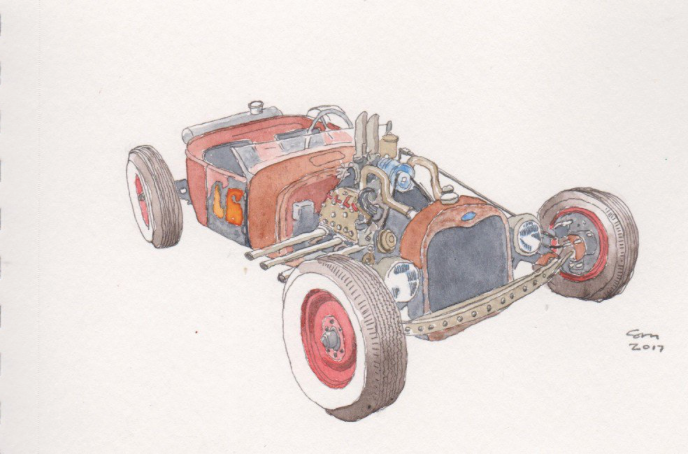 car sketch, technical, interior, mechanical, car, red, old