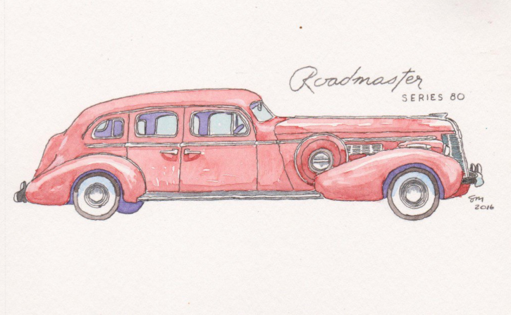 old car painting, car drawing, painting, collection
