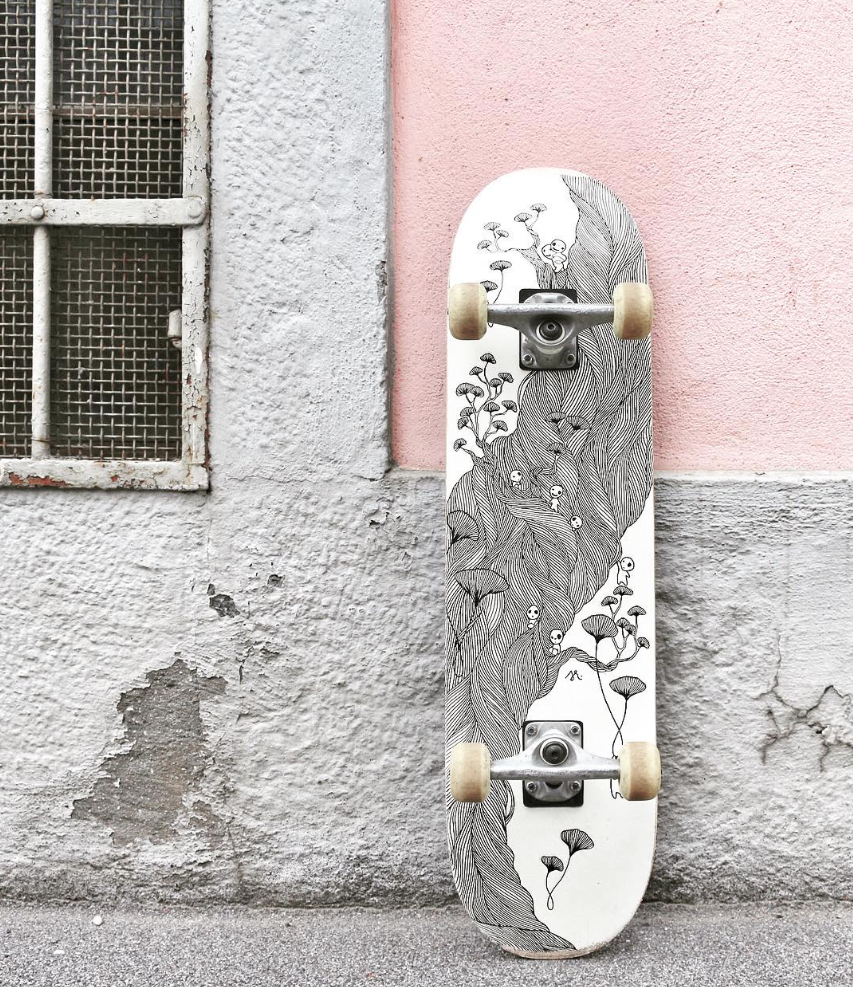 skateboard, illustration, photography, sketch, art, black and white