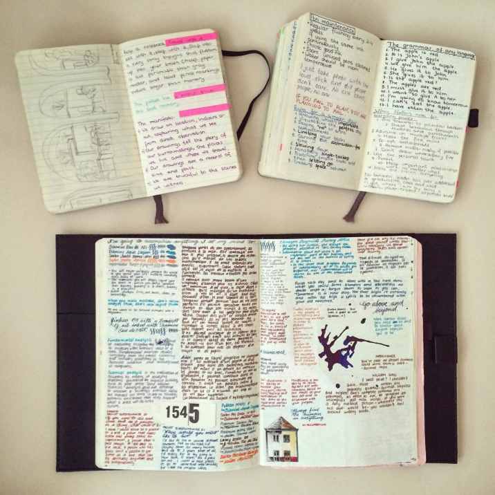 journaling, colorful, notes, field notes