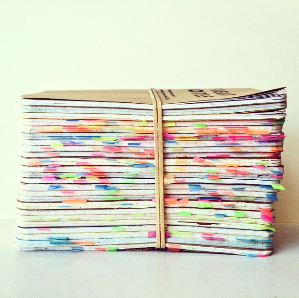 stacks, color coding, organization, field notes, sketchbooks, collection