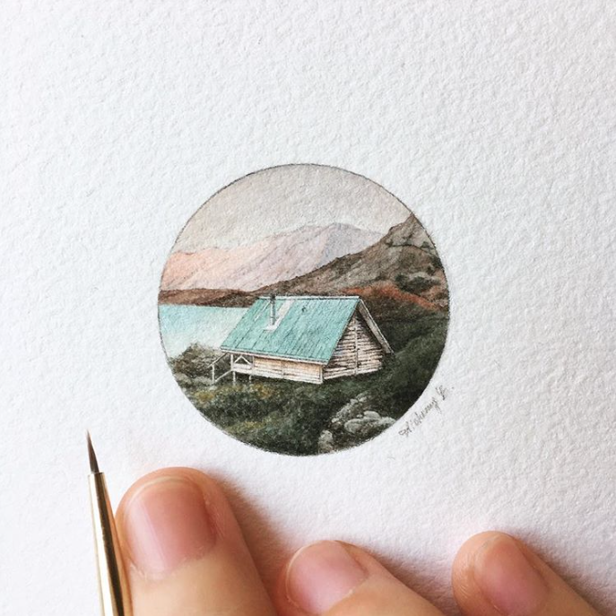 miniature painting, house painting, tiny house, paint