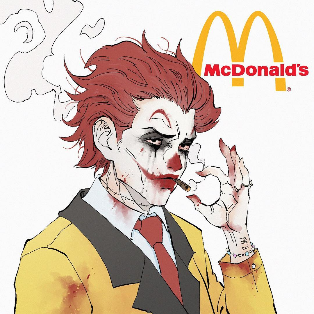 McDonalds as a Japanese Anime Character