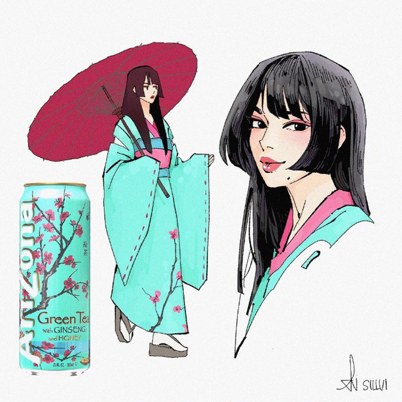 Arizona Tea as a Japanese Anime Character
