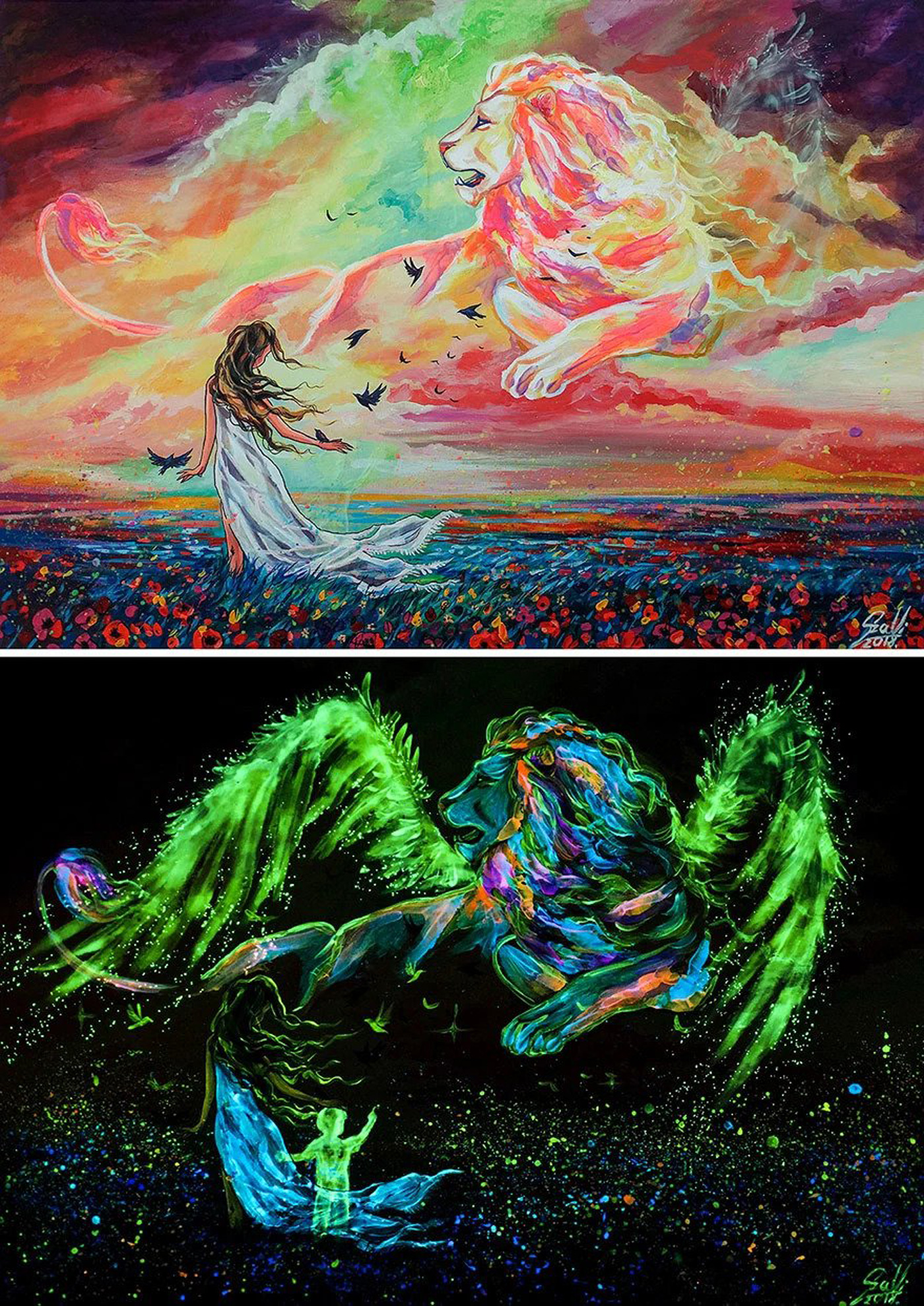 Glow In The Dark Paintings Of I Take Care Of You