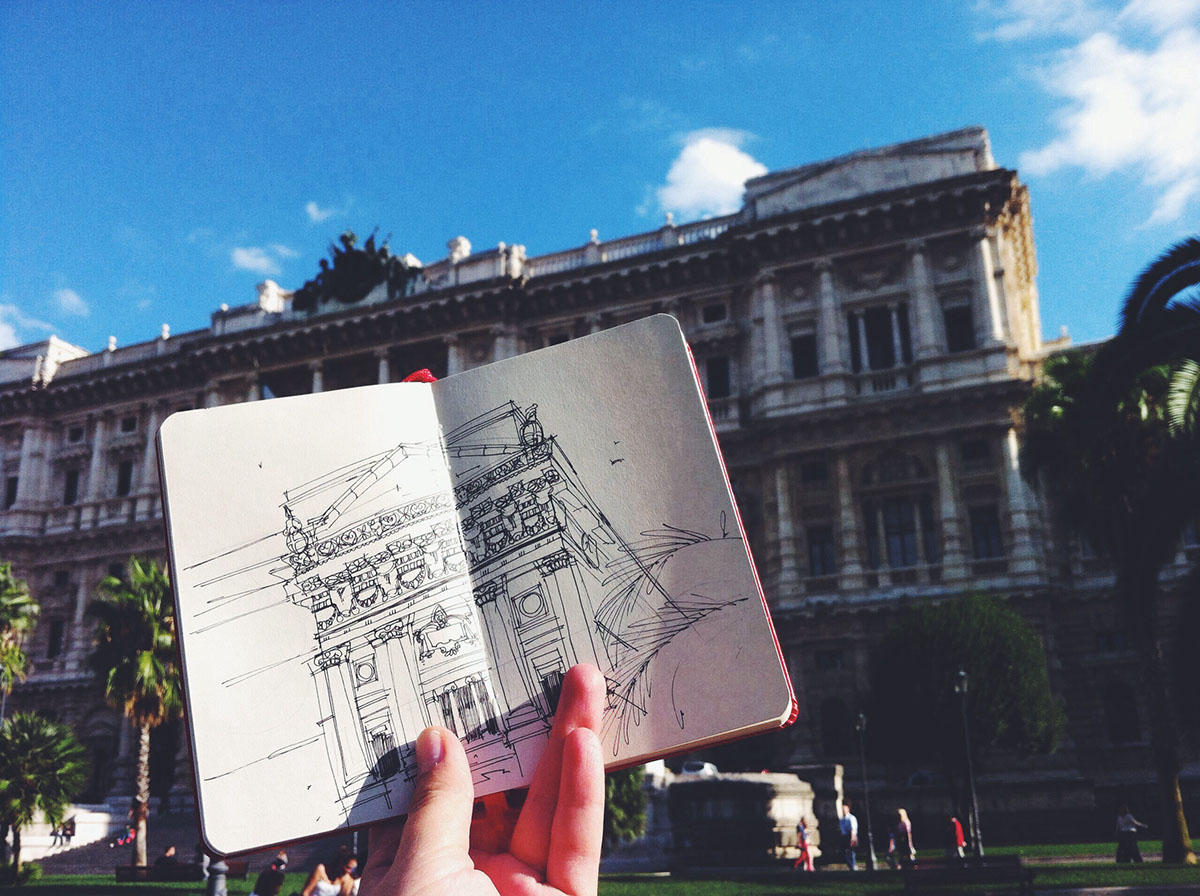 architecture sketchbook