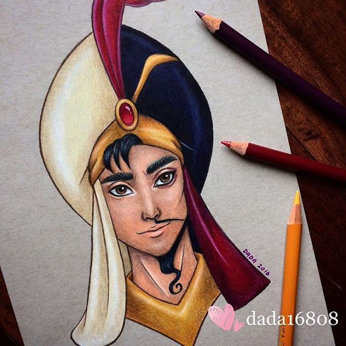 Aladdin and Jaffar drawn together