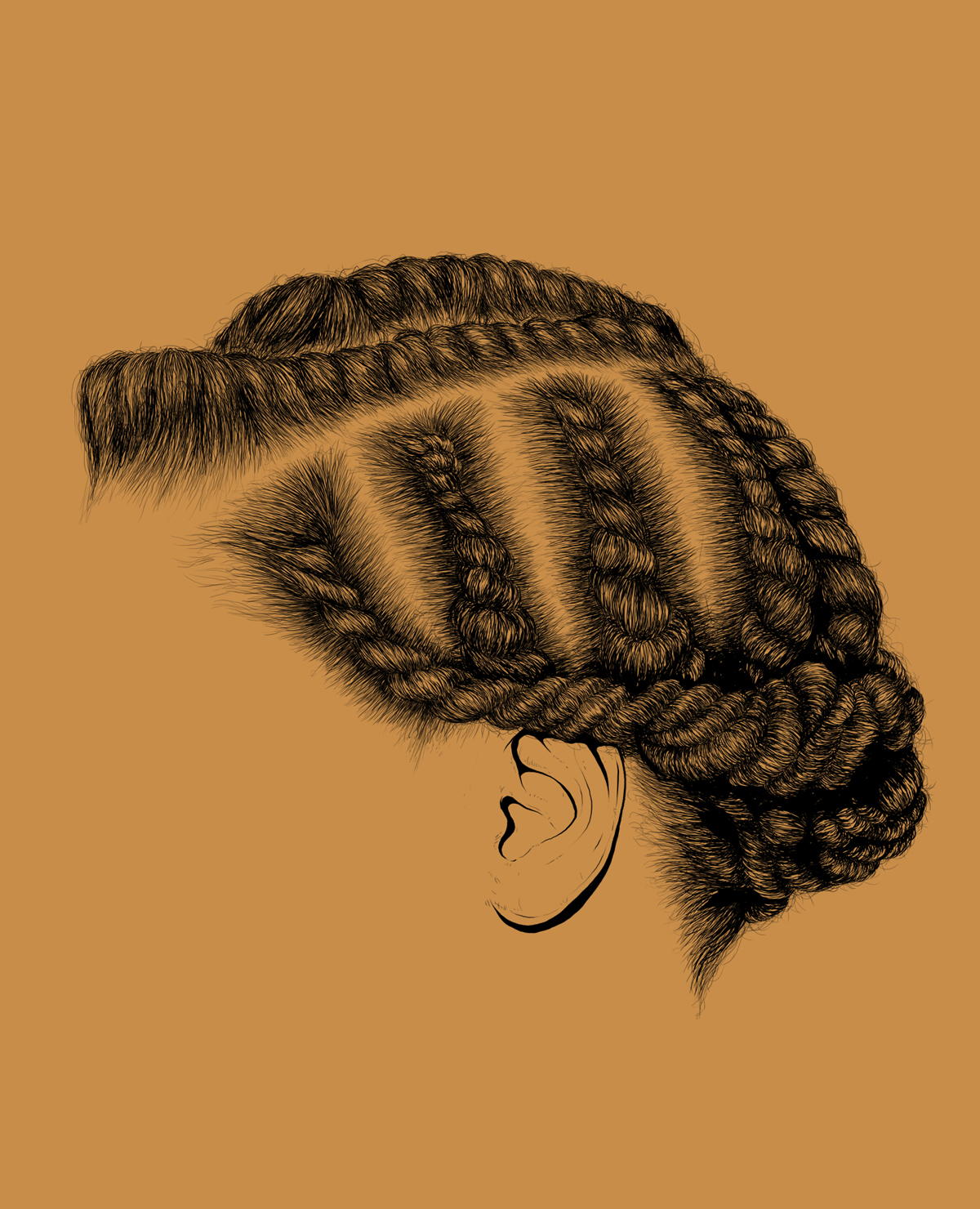 braided, style, illustration, digital