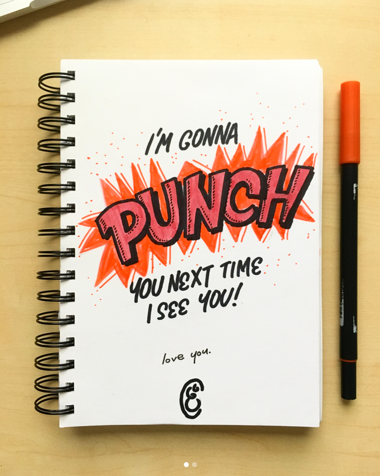 comic book lettering, starburst, punch, action, sketchbook, fun type