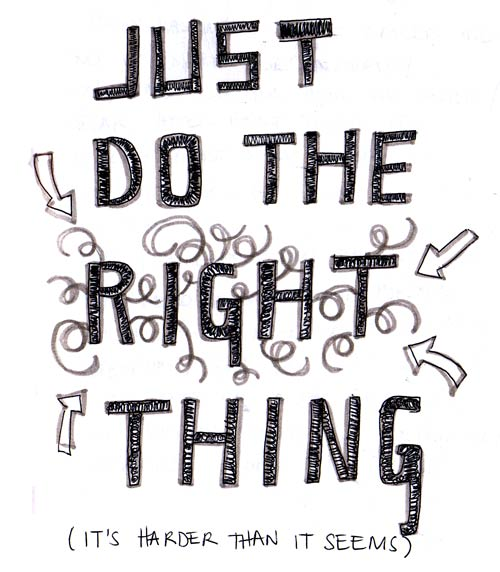 do the right thing doodle