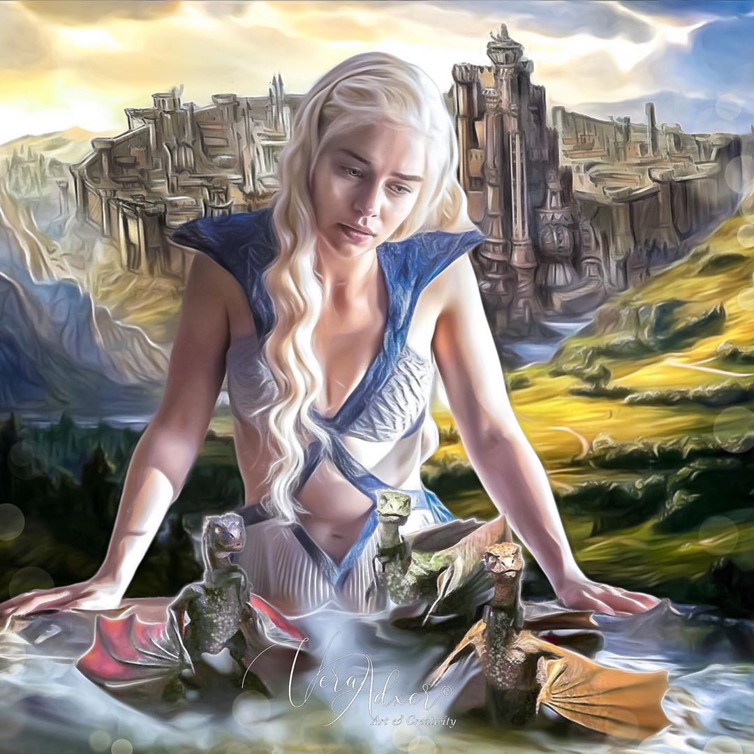 Emila Clarke as Mother of Dragons
