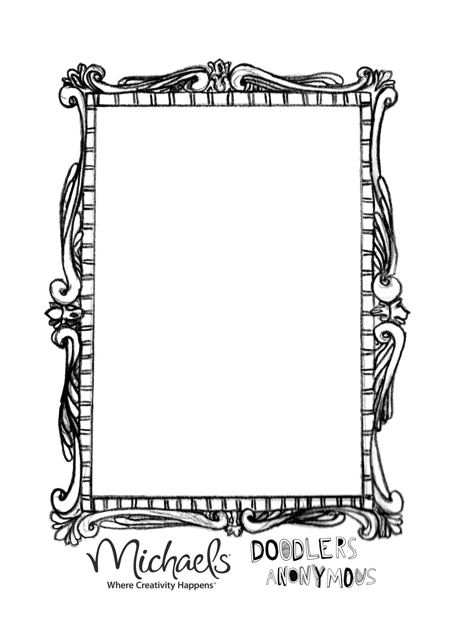 Hand Mirror Coloring Pages