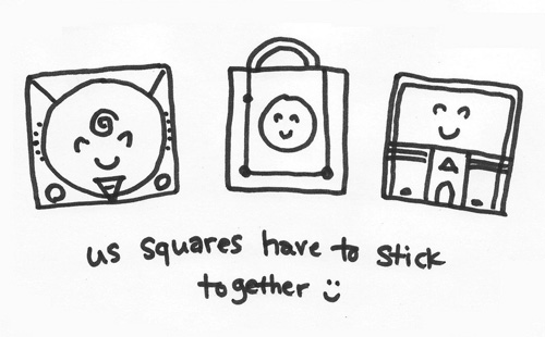 Squares Stick Together GameCube Doodle