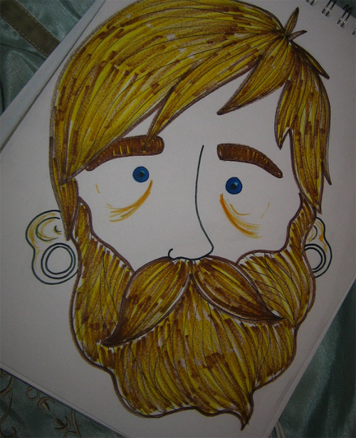 Beard Art Doodle by xmagpie