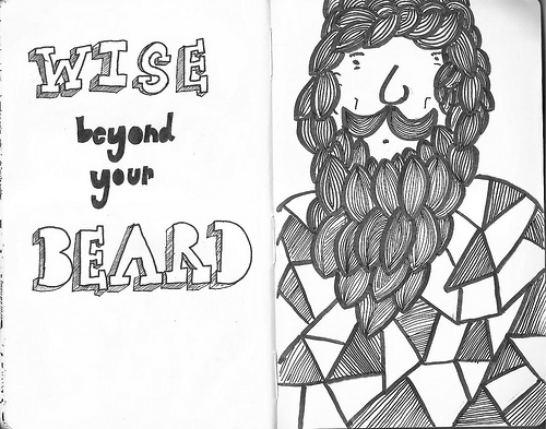 Beard Art Doodle by Jonathan Splitlog