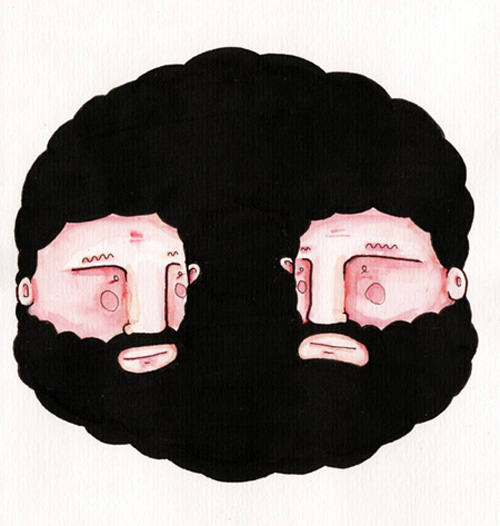 Beard Art Doodle by Basco 5