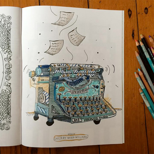 CW The Doodlers Anonymous Colouring Book Is Packed Full With Wonderful Work Here How I Have Chosen To Colour In My Illo