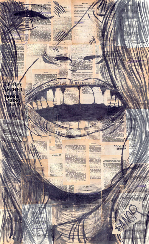 Girl Laughing Drawing Captures Laughing Women in