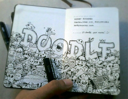 Kerby Rosanes Is A Doodle Force To Be Reckoned With No Joke The Man Must Go Through Markers Like I Cups Of Coffee His Style Overwhelming As
