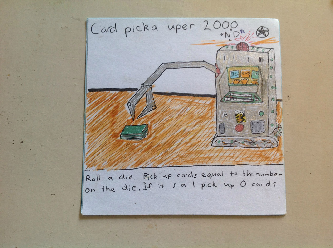Handdrawn Playing Cards: Picka-uper-2000