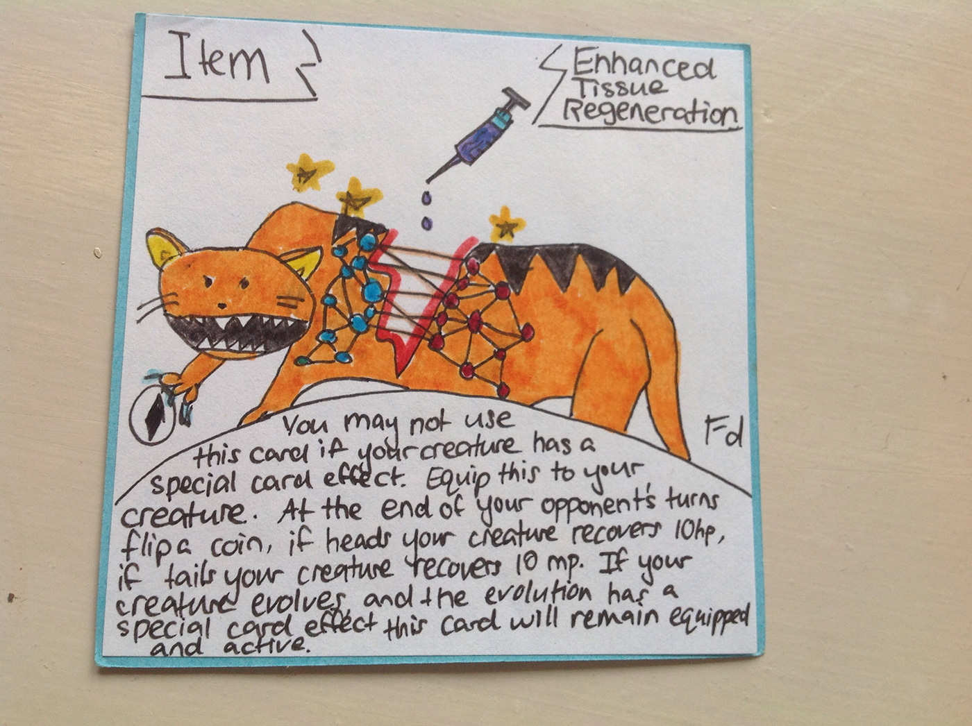 Hand Drawn Creature Cards Enhanced Tissue Regeneration