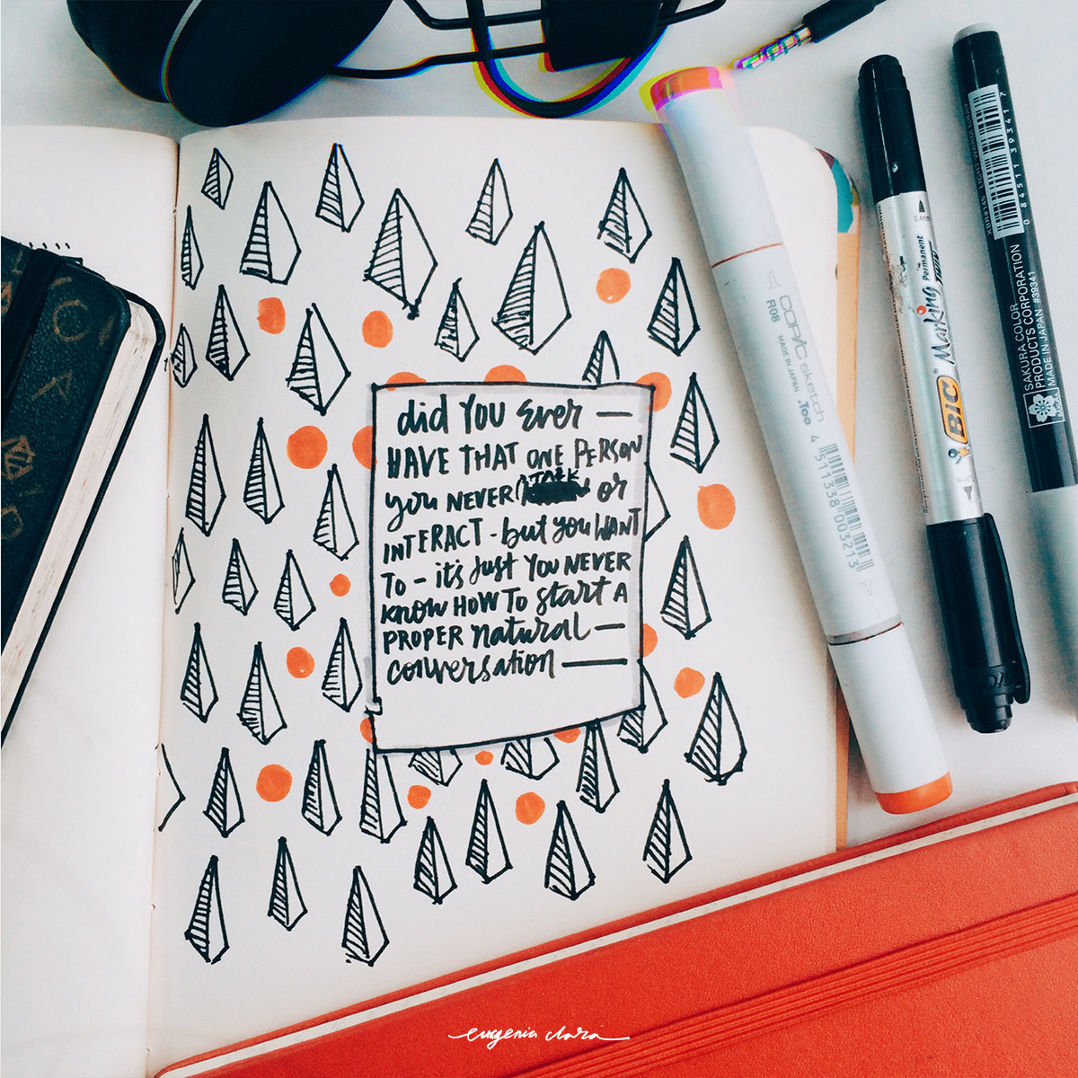 inspirational typography doodle
