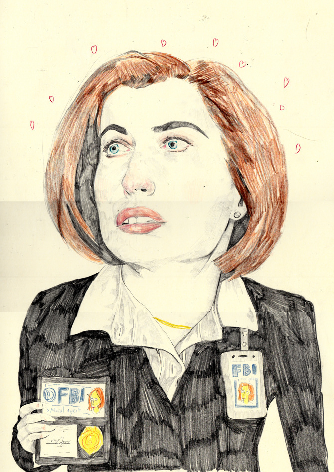 dana scully doodle