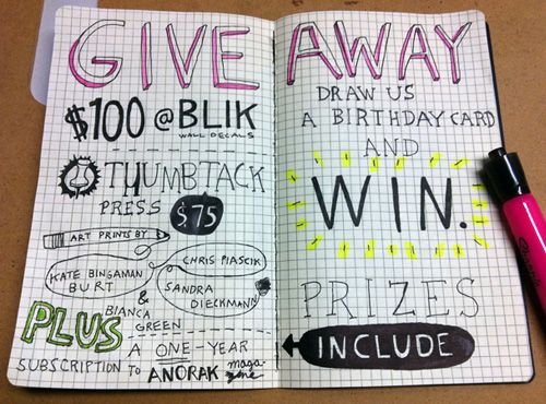 Doodlers anonymous 3 year birthday giveaway doodlers anonymous birthday giveaway bookmarktalkfo Choice Image