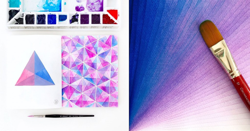 Highly Satisfying Mathematically Perfect Watercolors