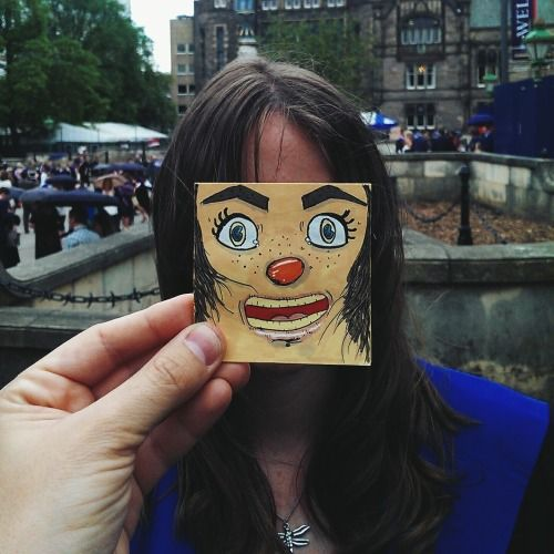 Blockheads - Faces Doodled on Post-It Notes | Doodlers Anonymous