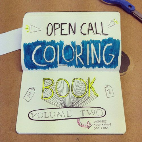 Open Call / Coloring Book Vol. 2 | Doodlers Anonymous