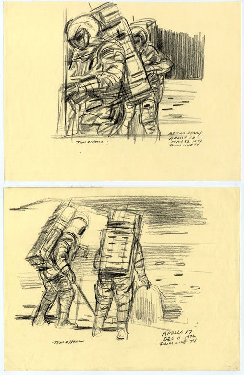 Eyewitness to Space: Over 1,500 drawings chronicling the American Space Program | Doodlers Anonymous
