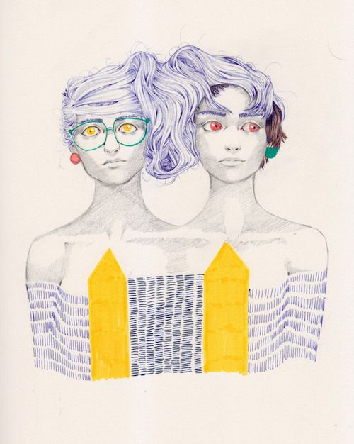 Tumblr of the Week: Sketchbooking with Fashion and Geometry | Doodlers Anonymous
