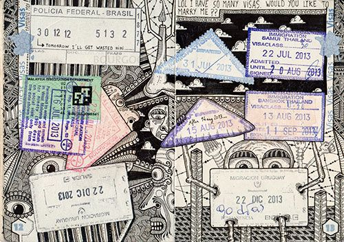 EXCLUSIVE: He Doodles All Over Travel Passports and They Still Work! | Doodlers Anonymous