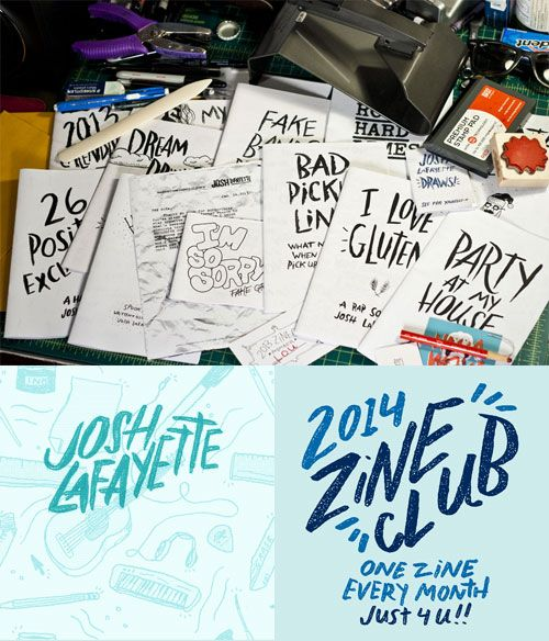 Giveaway: One-year of Zines by Josh LaFayette | Doodlers Anonymous