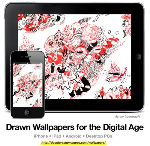Drawn Wallpapers for the Digital Age: Art by überkraaft, #2 | Doodlers Anonymous