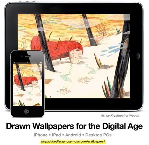 Drawn Wallpapers for the Digital Age: Art by Krysthopher Woods, #3 | Doodlers Anonymous