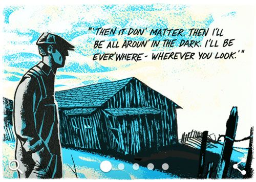 A Beautiful Tribute: Google Illustrates Some of Steinbeck's Monumental Works | Doodlers Anonymous