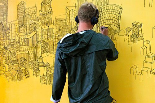Drawing the Cityscape in His Head | Doodlers Anonymous