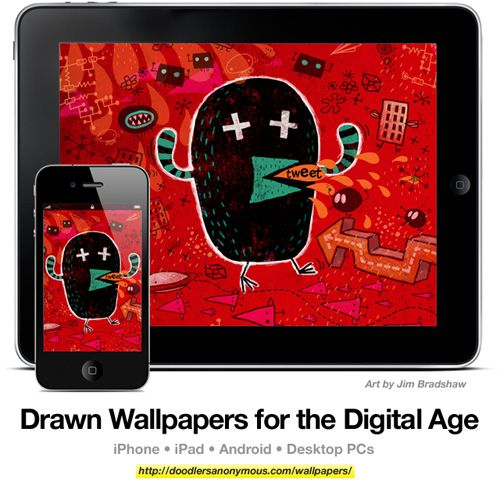 Drawn Wallpapers for the Digital Age: Art by Jim Bradshaw, #4 | Doodlers Anonymous
